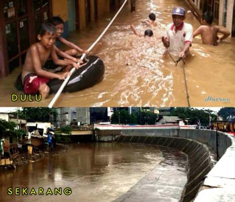 Banjir sebelum dan sesudah